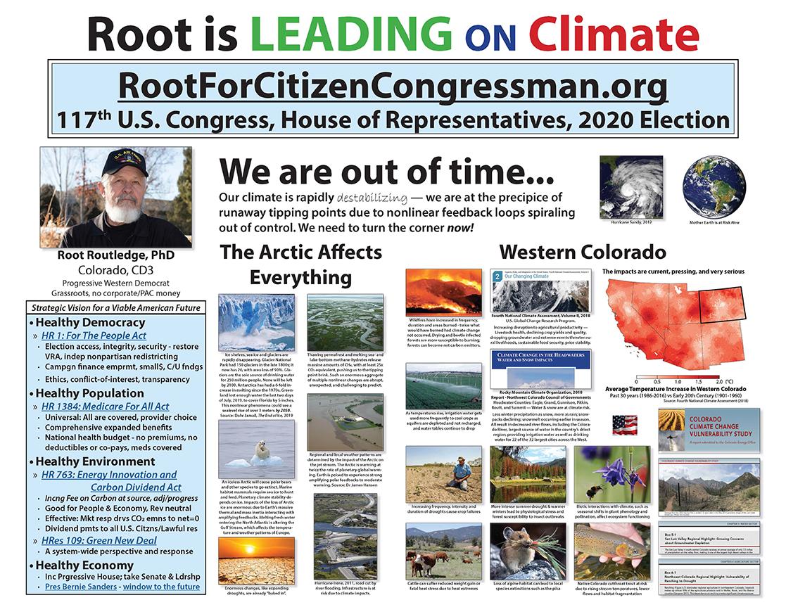 Root is LEADING on CLIMATE